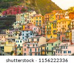 beautiful view of manarola town ... | Shutterstock . vector #1156222336