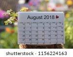 close up  calendar of the month ... | Shutterstock . vector #1156224163