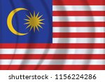 the national flag of malaysia....   Shutterstock .eps vector #1156224286