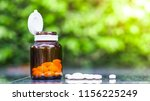 eye glasses and vitamin a  in... | Shutterstock . vector #1156225249