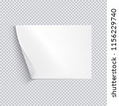 horizontal white sheet of paper ... | Shutterstock .eps vector #1156229740