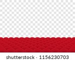 rows of red seats on... | Shutterstock .eps vector #1156230703