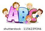 vector illustration of kids...   Shutterstock .eps vector #1156239346