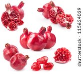 Collection Of Red Pomegranate...