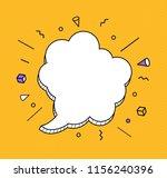 hand drawn speech bubbles icon. ... | Shutterstock .eps vector #1156240396