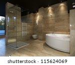 modern house bathroom interior | Shutterstock . vector #115624069