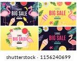 abstract summer sale background ...   Shutterstock . vector #1156240699