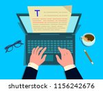the writer writes on the... | Shutterstock .eps vector #1156242676