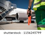 heading to aircraft. close up... | Shutterstock . vector #1156245799