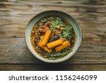 healthy vegan food in coffee... | Shutterstock . vector #1156246099