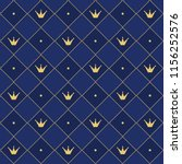 navy blue seamless pattern in...   Shutterstock .eps vector #1156252576