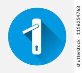 door handle with lock icon on... | Shutterstock .eps vector #1156254763