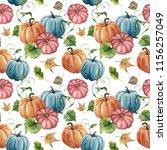 Watercolor Bright Pumpkin And...