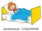 little girl sleeping deeply on... | Shutterstock .eps vector #1156259440