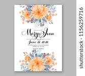 wedding invitation floral...   Shutterstock .eps vector #1156259716
