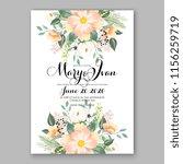 wedding invitation floral... | Shutterstock .eps vector #1156259719