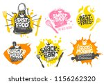 sketch style cooking lettering... | Shutterstock .eps vector #1156262320