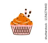 yummy cake  muffin isolated on... | Shutterstock .eps vector #1156274443