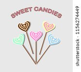 heart lolipop icon isolated on... | Shutterstock .eps vector #1156274449
