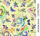 seamless floral pattern. for... | Shutterstock . vector #115627903