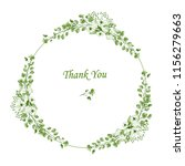 wreath. flower frame with white ... | Shutterstock . vector #1156279663