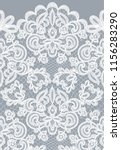 horizontally seamless gray lace ... | Shutterstock . vector #1156283290