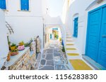 colorful stairs in narrow... | Shutterstock . vector #1156283830