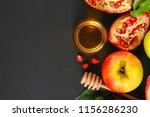rosh hashanah jewish new year... | Shutterstock . vector #1156286230