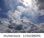 white summer clouds on blue sky | Shutterstock . vector #1156288090
