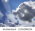 white summer clouds on blue sky | Shutterstock . vector #1156288156