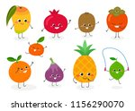 set of various cute happy... | Shutterstock .eps vector #1156290070