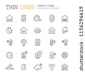 collection of smart home line... | Shutterstock .eps vector #1156296619