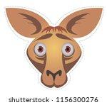 kangaroo  mask  for children's... | Shutterstock .eps vector #1156300276