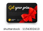 get your prize. black gift card ... | Shutterstock .eps vector #1156302613