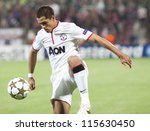 Постер, плакат: Javier Hernandez in UEFA