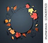 folded paper art origami.... | Shutterstock . vector #1156305523