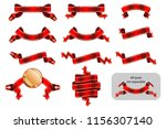 ribbons and banners set with... | Shutterstock .eps vector #1156307140