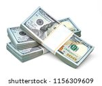 new us dollar bills bundles... | Shutterstock . vector #1156309609