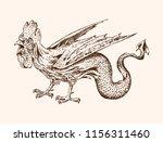 mythical basilisk. ancient... | Shutterstock .eps vector #1156311460