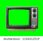 very dirty vintage television... | Shutterstock . vector #1156312519