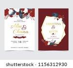 geometry gold wedding... | Shutterstock .eps vector #1156312930