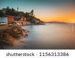 sunset in the mediterranean.... | Shutterstock . vector #1156313386