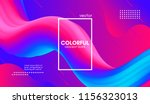 abstract 3d background. wave... | Shutterstock .eps vector #1156323013