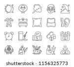 insomnia thin line icons set.... | Shutterstock .eps vector #1156325773