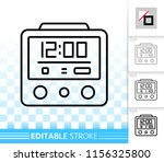 alarm clock thin line icon.... | Shutterstock .eps vector #1156325800