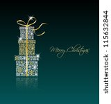elegant christmas background... | Shutterstock .eps vector #115632844