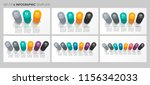 set of vector infographic label ... | Shutterstock .eps vector #1156342033