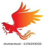 attacking phoenix vector... | Shutterstock .eps vector #1156343020