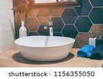 interior of bathroom with sink... | Shutterstock . vector #1156355050