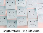 Unhappy sad emotion face on...